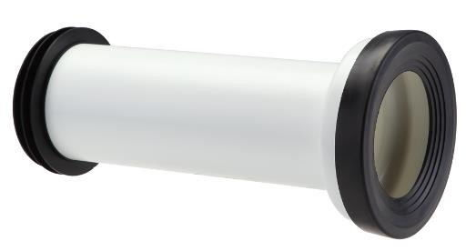 Black And White Straight Toilet Connector / Rear Wall Shifter Tube Long Lifespan