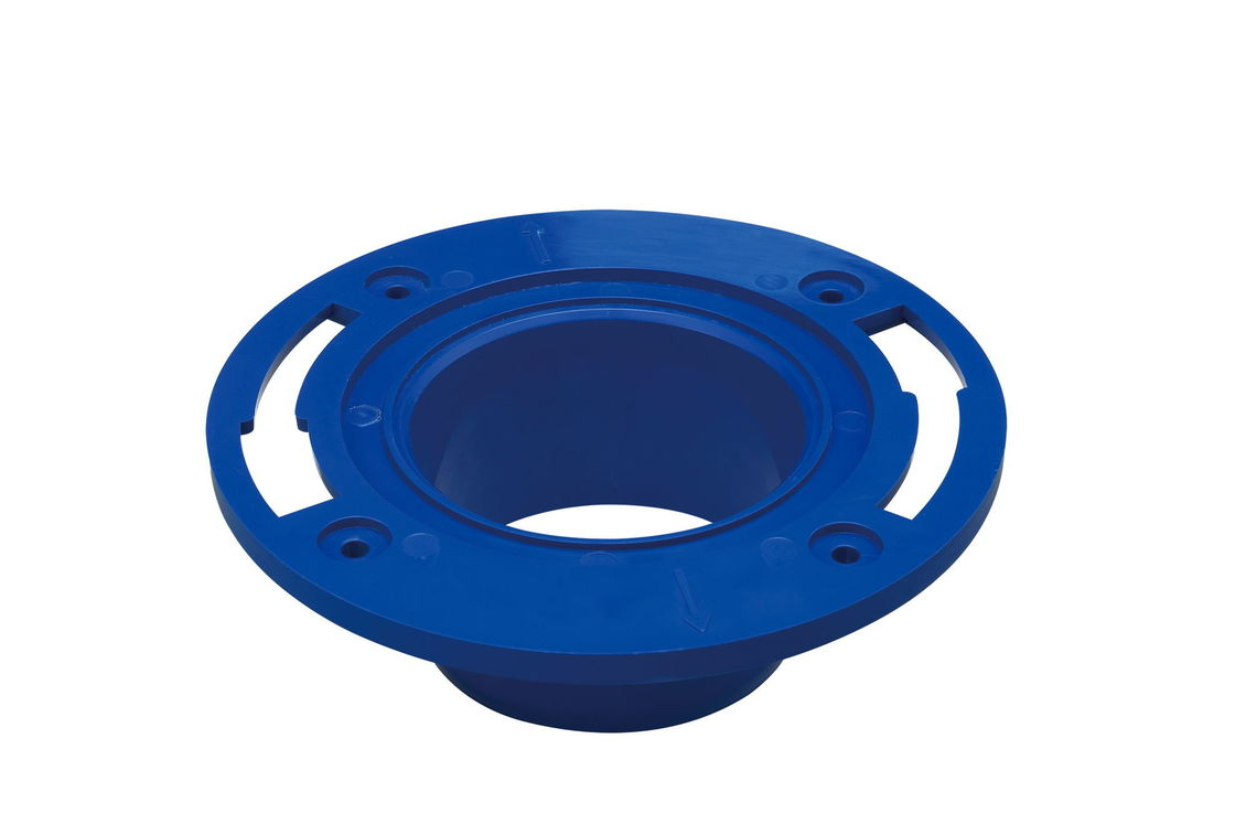 Dark Blue 3 Inch / 4 Inch Toilet Seal Flange PP Material For Toilet Seat Accessories