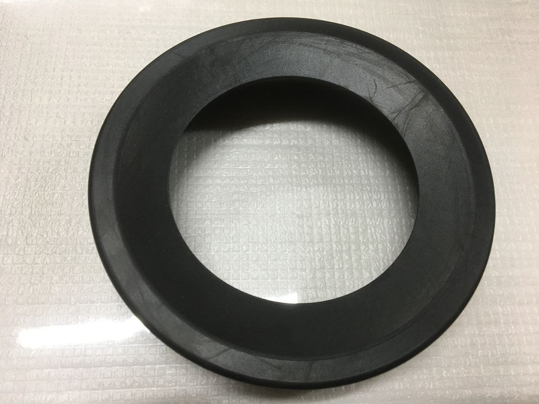 Round Black Durable Toilet Fittings , Toilet Rubber Gasket 30-90 Shore Hardness