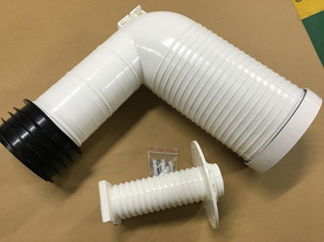 Injection Processing Toilet Drain Pipe 4 Inch PP Elbow Wall Toilet Accessories