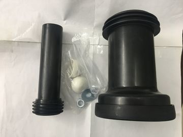 PVC Material Toilet Straight Connector , Embedded Toilet Waste Fittings