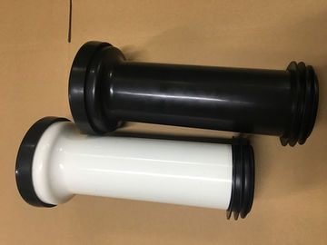 China Wall Mounted Toilet Straight Pan Connector With Black And White Optional distributor