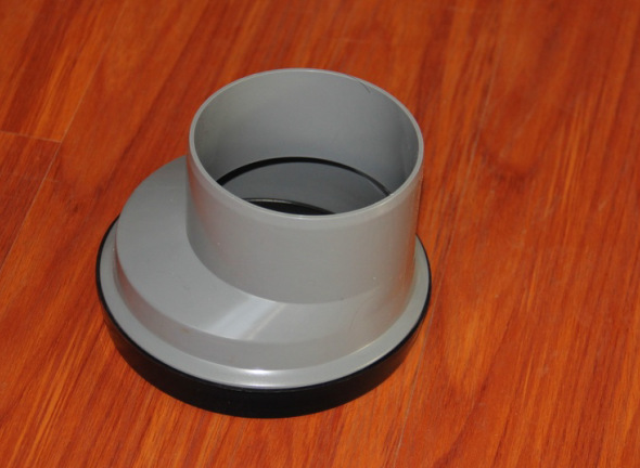 Gray 3 Inch Wc Offset Connector , PVC Material Toilet