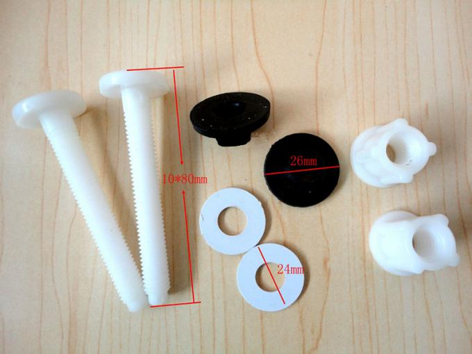 Strong Tensile Strength Plastic Toilet Seat Screws , Plastic Toilet Seat Hinge Bolts