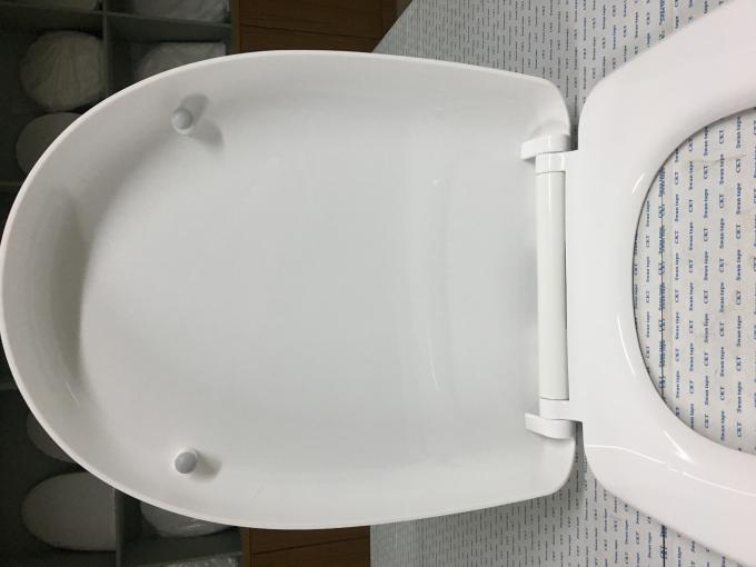 PP Pure Color Toilet Bowl Seat Cover With Stainless Steel Hinge Material