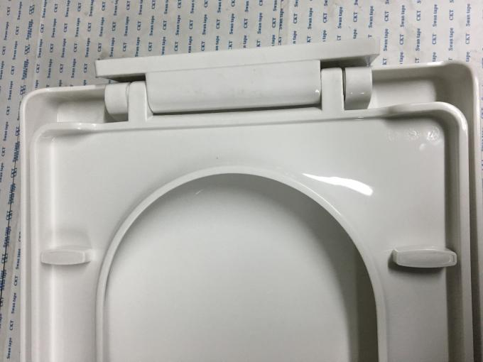 Bathroom Plastic Elongated Toilet Seat With Double Hole And Super Spiral Joint