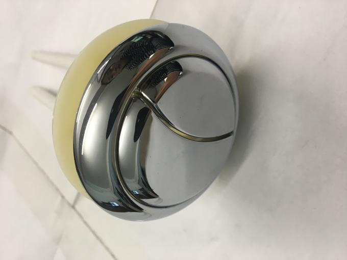 Dual Flush Round Toilet Push Button , Toilet Dual Flush Button With Rods