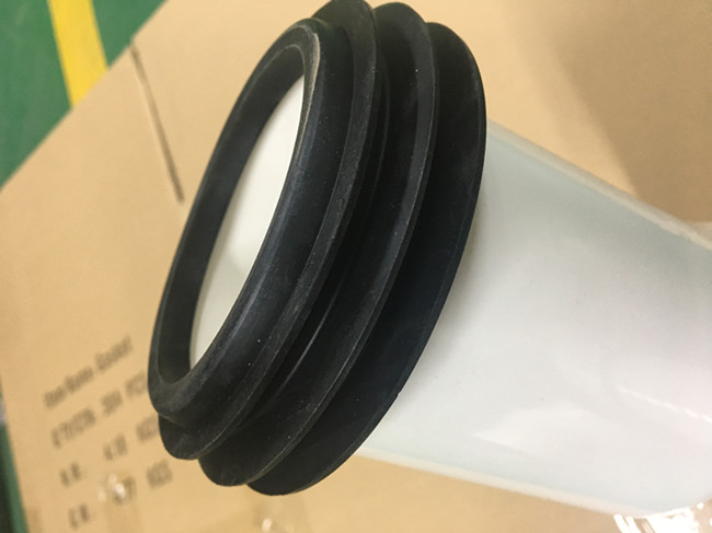 White Smooth Toilet Pan Connector , Discharge Mode 90 Degree Pan